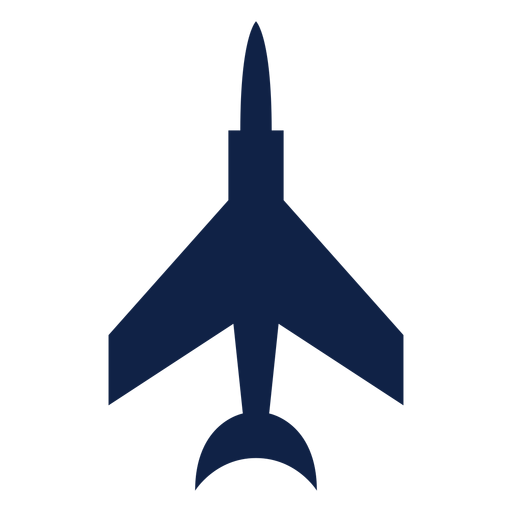Fighter airplane top view silhouette Transparent PNG