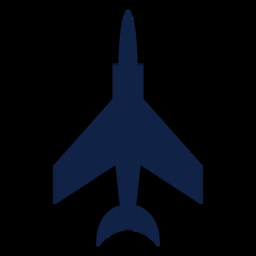 Silueta de vista superior de avión de combate Transparent PNG