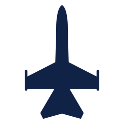 Fighter plane top view silhouette