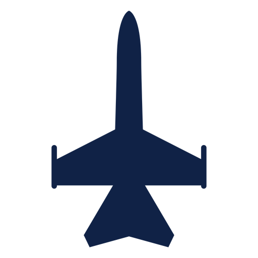 Fighter plane top view silhouette Transparent PNG