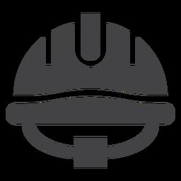 Ícone plana de capacete de bombeiro