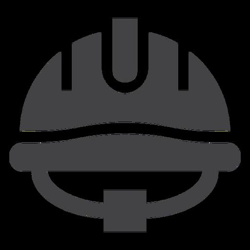 Ícone plana de capacete de bombeiro Transparent PNG