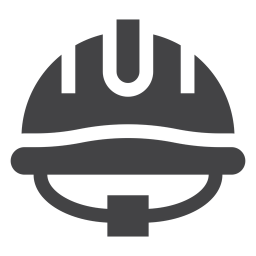 Casco de bombero plano icono Transparent PNG