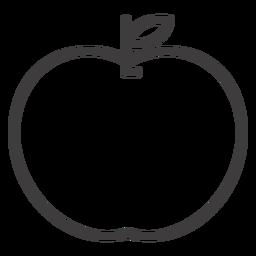 Ícone de traço de fruta de maçã plana