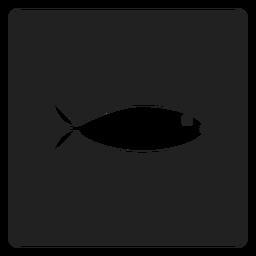 Ícone quadrado peixe liso