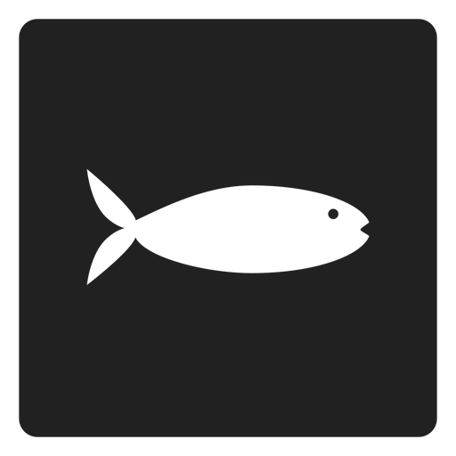 Flat fish square icon Transparent PNG