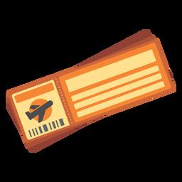 Icono de billete de avión