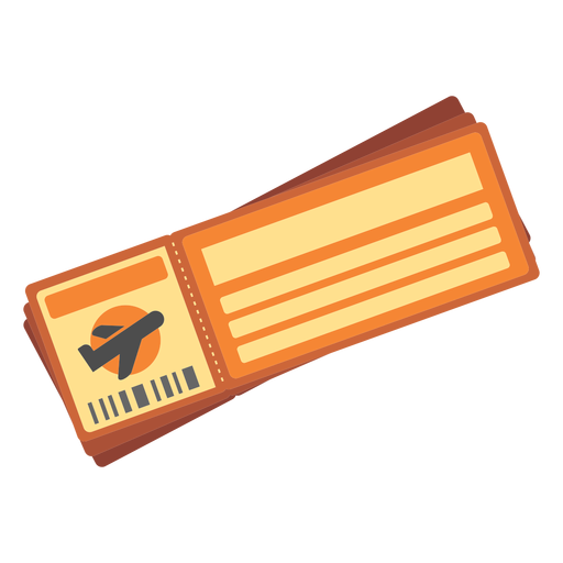 Icono de billete de avión Transparent PNG