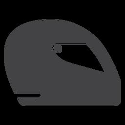 Icono plano de casco de fórmula