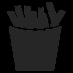 Ícone plana de caixa de batatas fritas