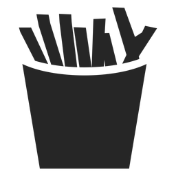 Pommes-Frites-Box flach Symbol