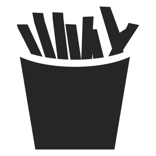 French fries box flat icon Transparent PNG