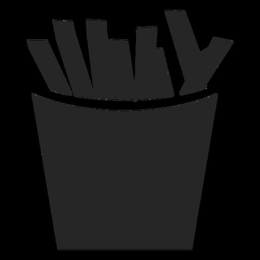 Icono plano de caja de papas fritas