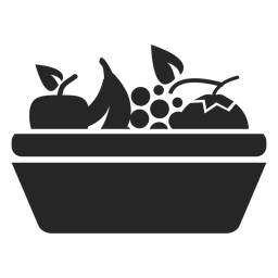 Fruit basket flat icon