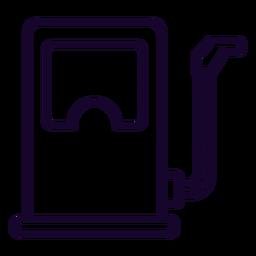 Ícone de traço dispensador de combustível