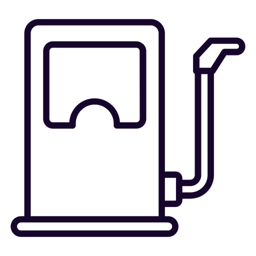 Icono de trazo de dispensador de combustible Transparent PNG