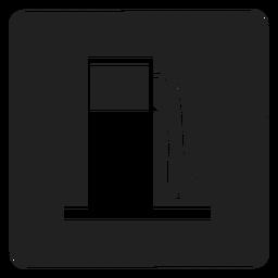 Ícone quadrado do tanque de gasolina
