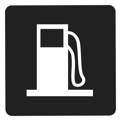 Gasoline tank square icon Transparent PNG