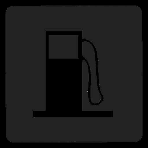 Icono cuadrado de tanque de gasolina Transparent PNG