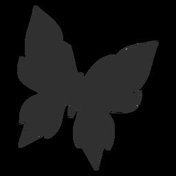 Mariposa geométrica volando silueta