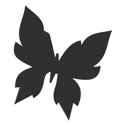 Geometric butterfly flying silhouette Transparent PNG