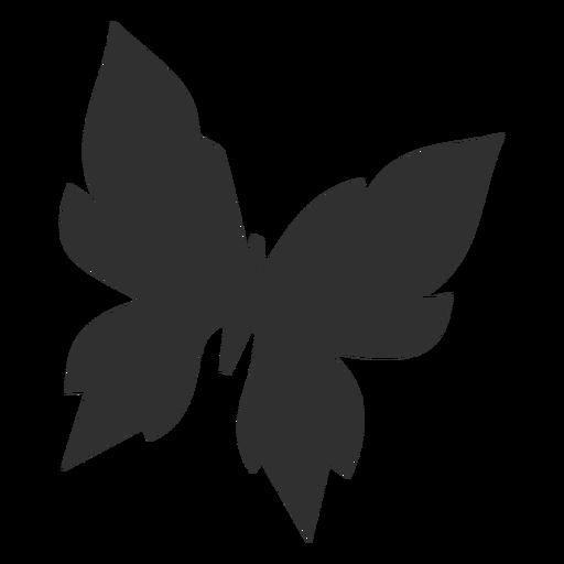 Mariposa geométrica volando silueta Transparent PNG