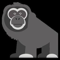 Ilustración de mono gibón