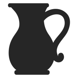 Icono plano de jarra de vidrio