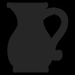 Jarra de vidrio plana icono