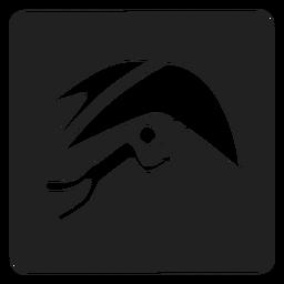 Ícone quadrado planador