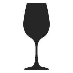 Goblet glass flat icon