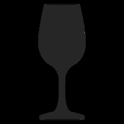 Taça de vidro ícone plana