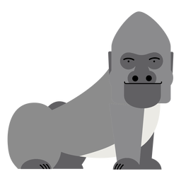 Gorilla monkey illustration