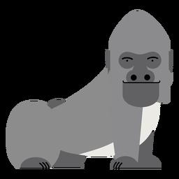 Ilustración de mono gorila