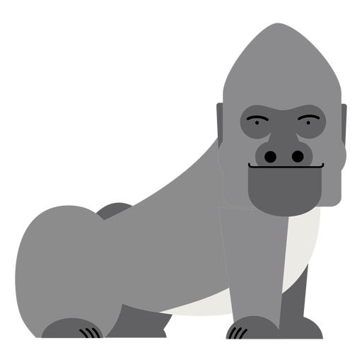 Ilustración de mono gorila Transparent PNG