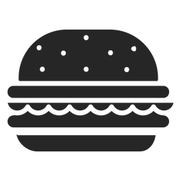 Hamburger flache Symbol Restaurant Icons