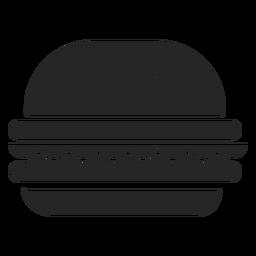 Hamburguesa plana icono restaurante iconos