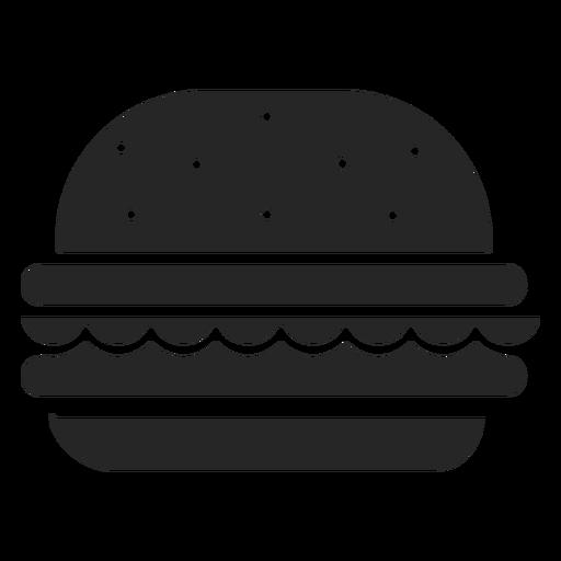 Ícones de restaurante ícone plana de hambúrguer Transparent PNG