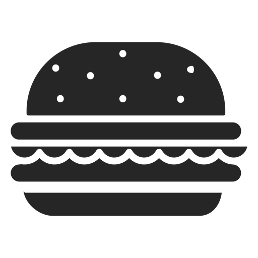 Hamburguesa plana icono restaurante iconos Transparent PNG