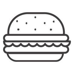 Hamburger stroke icon