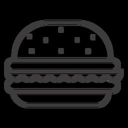 Icono de trazo de hamburguesa