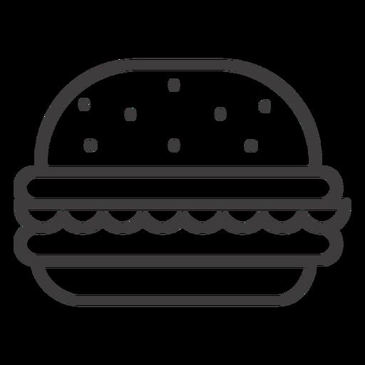 Hamburger stroke icon Transparent PNG