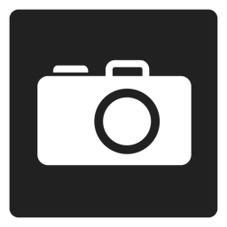 Handheld camera square icon