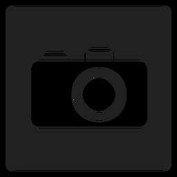 Icono cuadrado de la cámara de mano