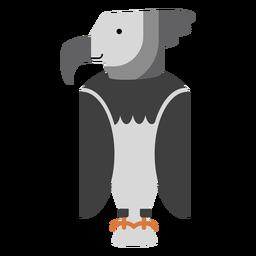 Ilustración del pájaro águila arpía