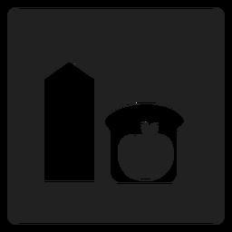 Gesundes Frühstücks-Quadrat-Symbol