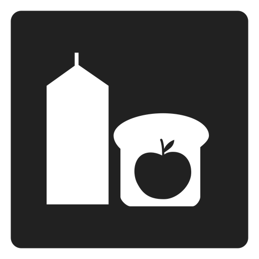 Healthy breakfast square icon Transparent PNG