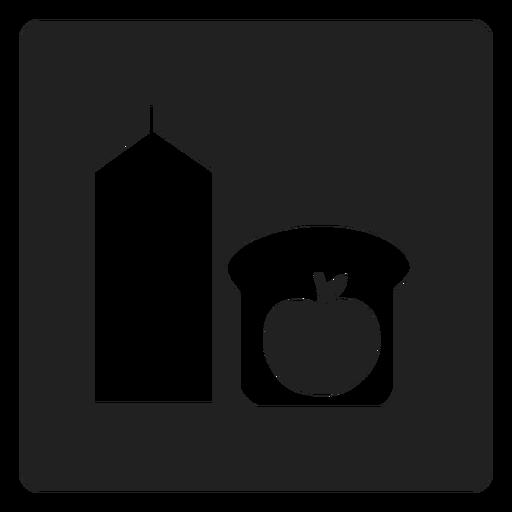 Icono cuadrado de desayuno saludable