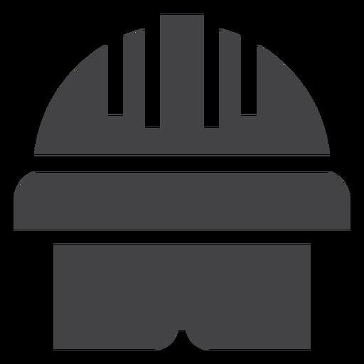 Ícone de silhueta de capacete Transparent PNG