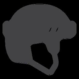 Ícone plana de capacete de hóquei